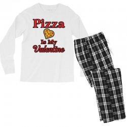 pizza is my valentine for light Men's Long Sleeve Pajama Set | Artistshot