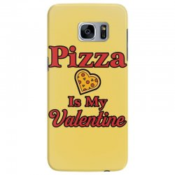 pizza is my valentine for light Samsung Galaxy S7 Edge Case | Artistshot