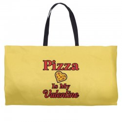 pizza is my valentine for light Weekender Totes | Artistshot