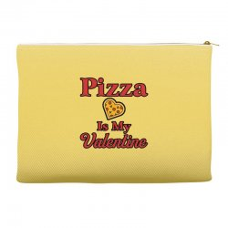 pizza is my valentine for light Accessory Pouches | Artistshot