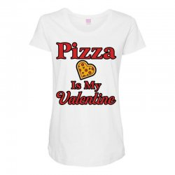 pizza is my valentine for light Maternity Scoop Neck T-shirt | Artistshot