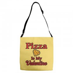 pizza is my valentine for light Adjustable Strap Totes | Artistshot