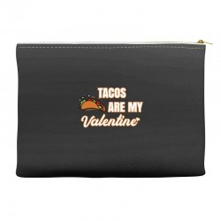 tacos are my valentine for dark Accessory Pouches | Artistshot