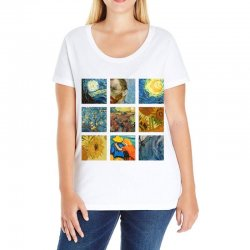 van gogh picture Ladies Curvy T-Shirt | Artistshot