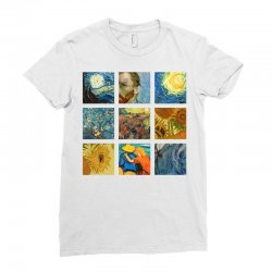 van gogh picture Ladies Fitted T-Shirt | Artistshot