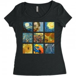 van gogh picture Women's Triblend Scoop T-shirt | Artistshot
