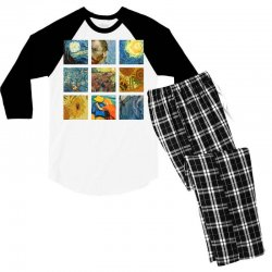 van gogh picture Men's 3/4 Sleeve Pajama Set | Artistshot