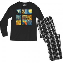 van gogh picture Men's Long Sleeve Pajama Set | Artistshot