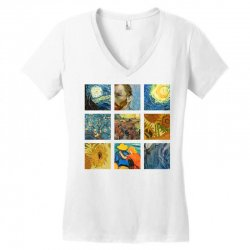 van gogh picture Women's V-Neck T-Shirt | Artistshot