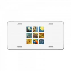 van gogh picture License Plate | Artistshot