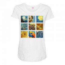 van gogh picture Maternity Scoop Neck T-shirt | Artistshot