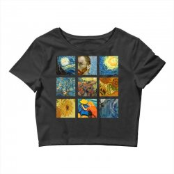 van gogh picture Crop Top | Artistshot