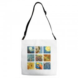 van gogh picture Adjustable Strap Totes | Artistshot