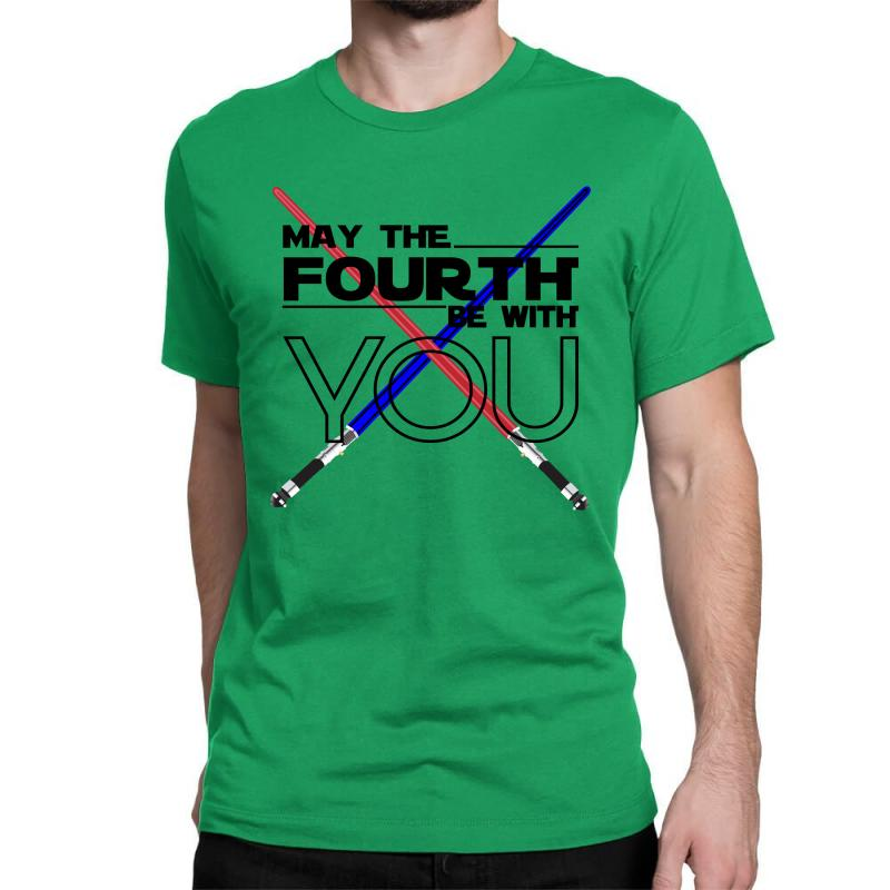 May The Fourth Be With You Lightsabers Classic T-shirt | Artistshot