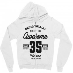 Awesome 35 Years Zipper Hoodie | Artistshot