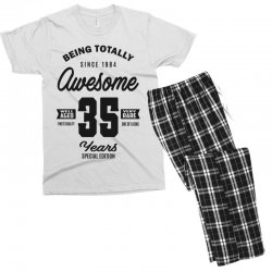 Awesome 35 Years Men's T-shirt Pajama Set | Artistshot