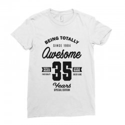 Awesome 35 Years Ladies Fitted T-Shirt | Artistshot
