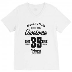 Awesome 35 Years V-Neck Tee | Artistshot