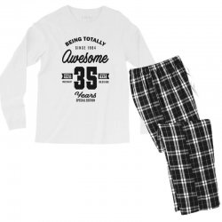 Awesome 35 Years Men's Long Sleeve Pajama Set | Artistshot