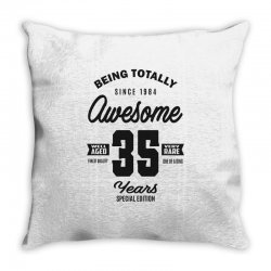 Awesome 35 Years Throw Pillow | Artistshot