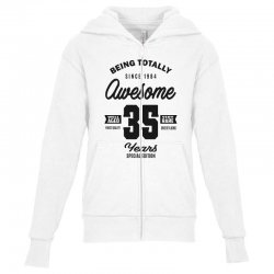 Awesome 35 Years Youth Zipper Hoodie | Artistshot