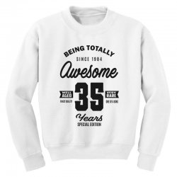 Awesome 35 Years Youth Sweatshirt | Artistshot