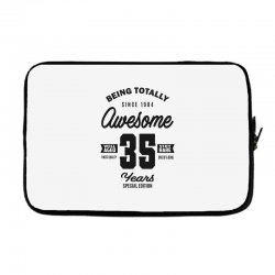 Awesome 35 Years Laptop sleeve | Artistshot