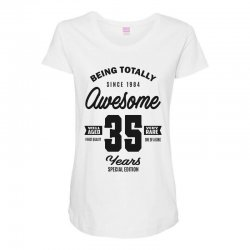 Awesome 35 Years Maternity Scoop Neck T-shirt | Artistshot