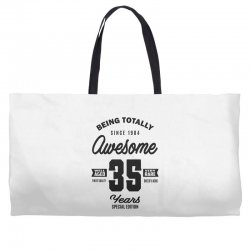 Awesome 35 Years Weekender Totes | Artistshot