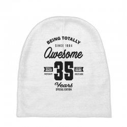 Awesome 35 Years Baby Beanies | Artistshot