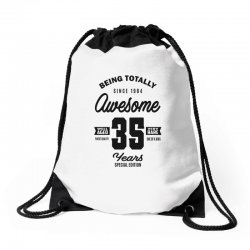 Awesome 35 Years Drawstring Bags | Artistshot