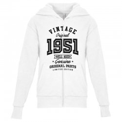Gift for Born in 1951 Youth Zipper Hoodie | Artistshot