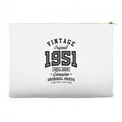 Gift for Born in 1951 Accessory Pouches | Artistshot