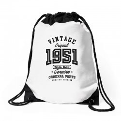 Gift for Born in 1951 Drawstring Bags | Artistshot