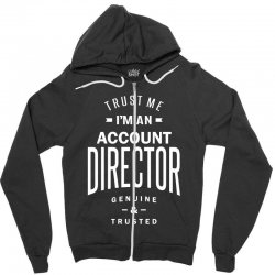 Account Director Zipper Hoodie | Artistshot