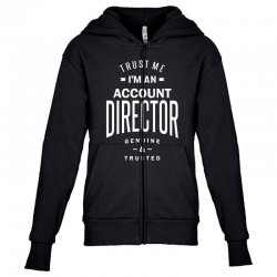 Account Director Youth Zipper Hoodie | Artistshot
