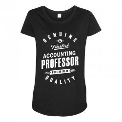 Accounting Professor Maternity Scoop Neck T-shirt | Artistshot