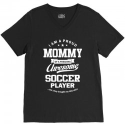 Women's Soccer Mommy V-Neck Tee | Artistshot