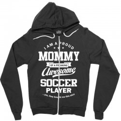 Women's Soccer Mommy Zipper Hoodie | Artistshot