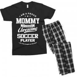Women's Soccer Mommy Men's T-shirt Pajama Set | Artistshot