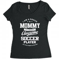Women's Soccer Mommy Women's Triblend Scoop T-shirt | Artistshot