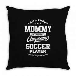 Women's Soccer Mommy Throw Pillow | Artistshot