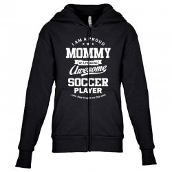 Women's Soccer Mommy Youth Zipper Hoodie | Artistshot