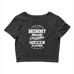 Women's Soccer Mommy Crop Top | Artistshot