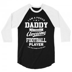 Men's Football Daddy 3/4 Sleeve Shirt | Artistshot