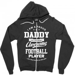 Men's Football Daddy Zipper Hoodie | Artistshot