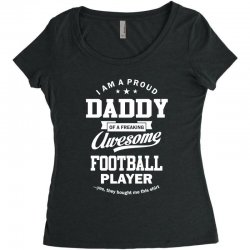 Men's Football Daddy Women's Triblend Scoop T-shirt | Artistshot