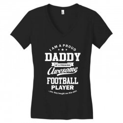 Men's Football Daddy Women's V-Neck T-Shirt | Artistshot