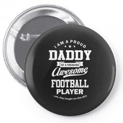 Men's Football Daddy Pin-back button | Artistshot