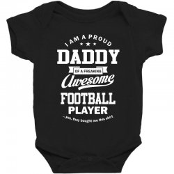 Men's Football Daddy Baby Bodysuit | Artistshot